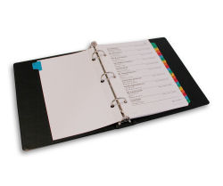 Address Book Pages For  Ring Binders