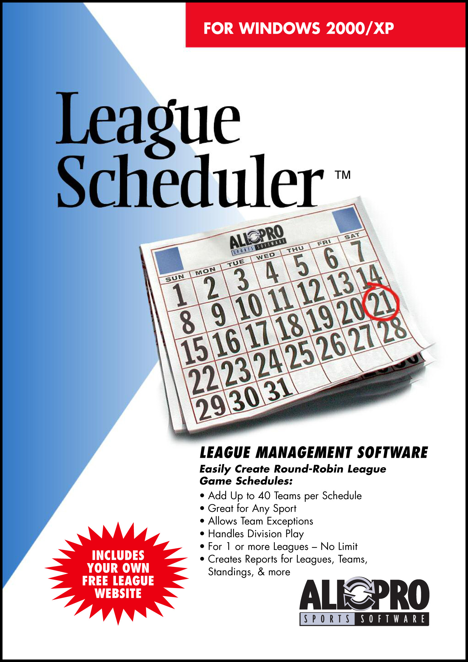 Click to view League Scheduler 6.0 screenshot