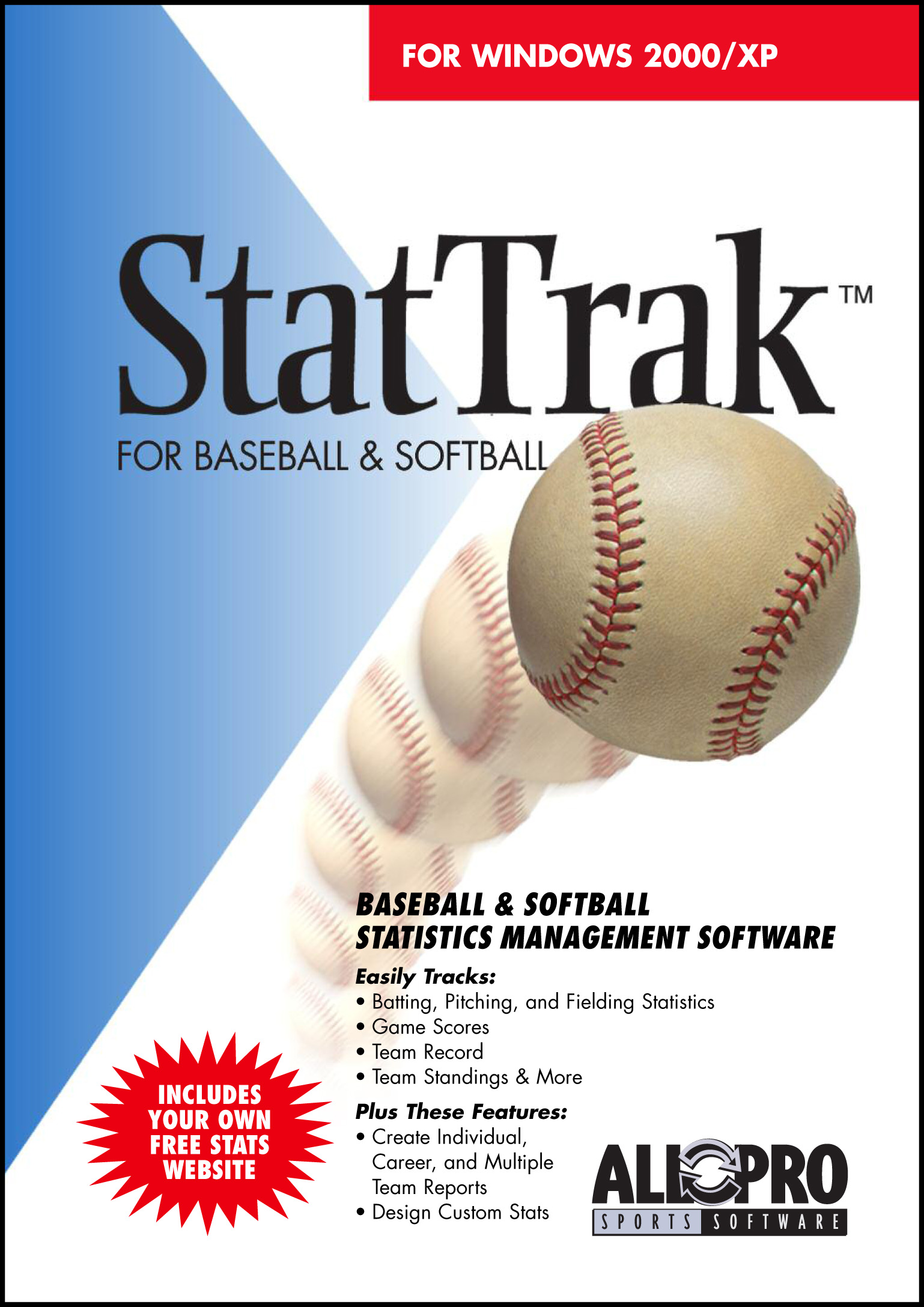 Click to view StatTrak for Baseball / Softball 10 screenshot