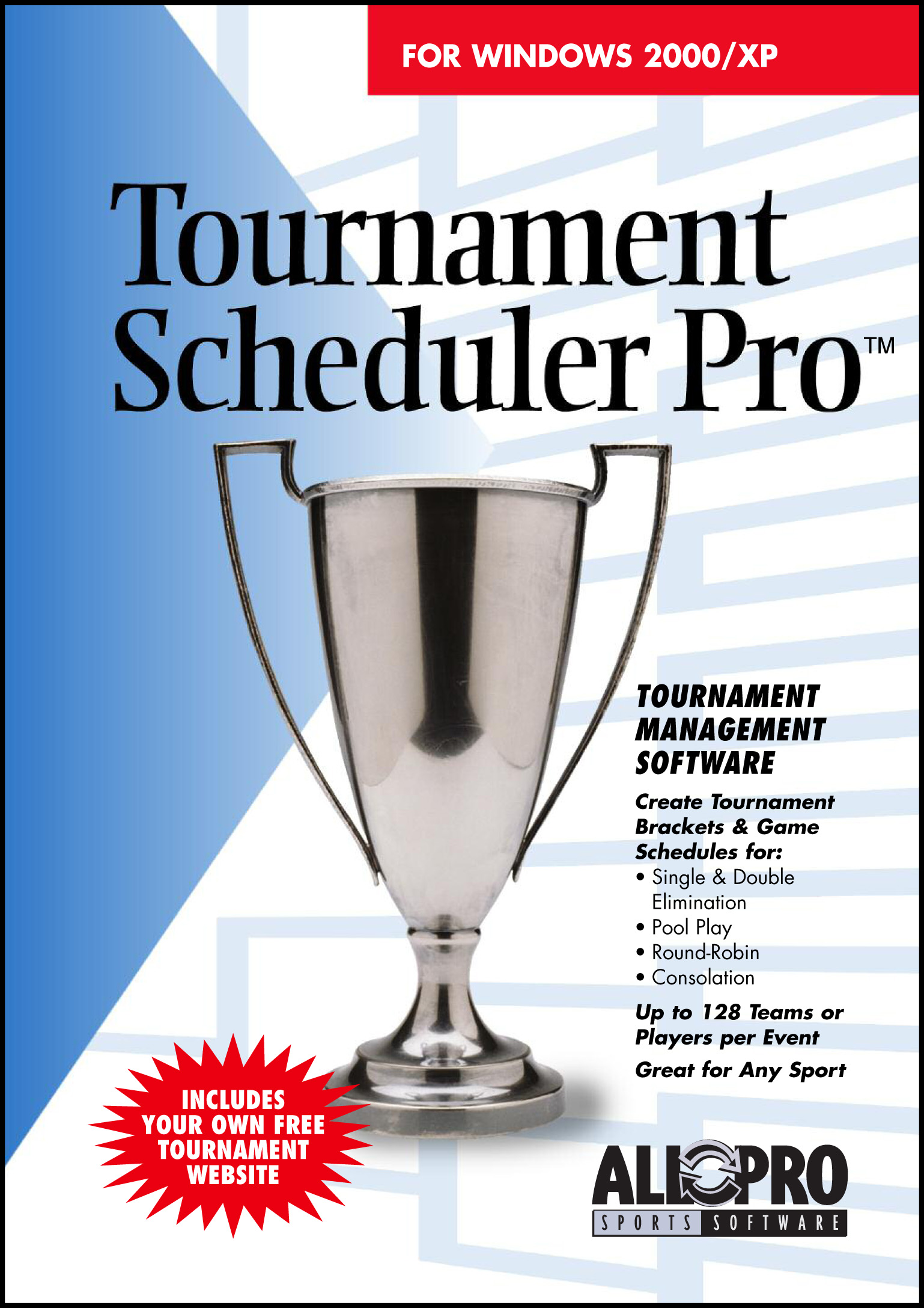 Create Tournament Brackets for Single & Double Elim, Pool Play & Round-R Screen Shot