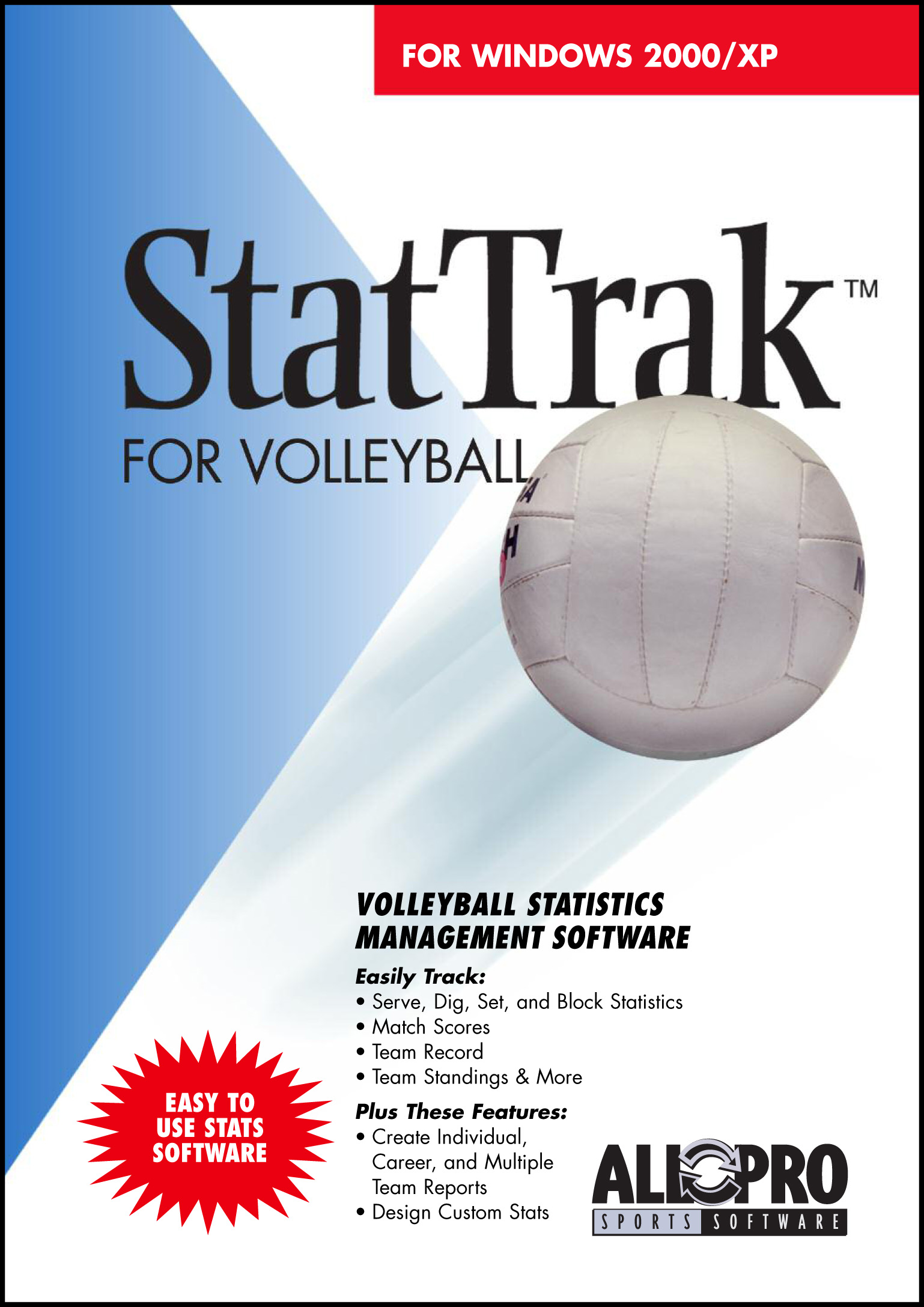 StatTrak for Volleyball screen shot