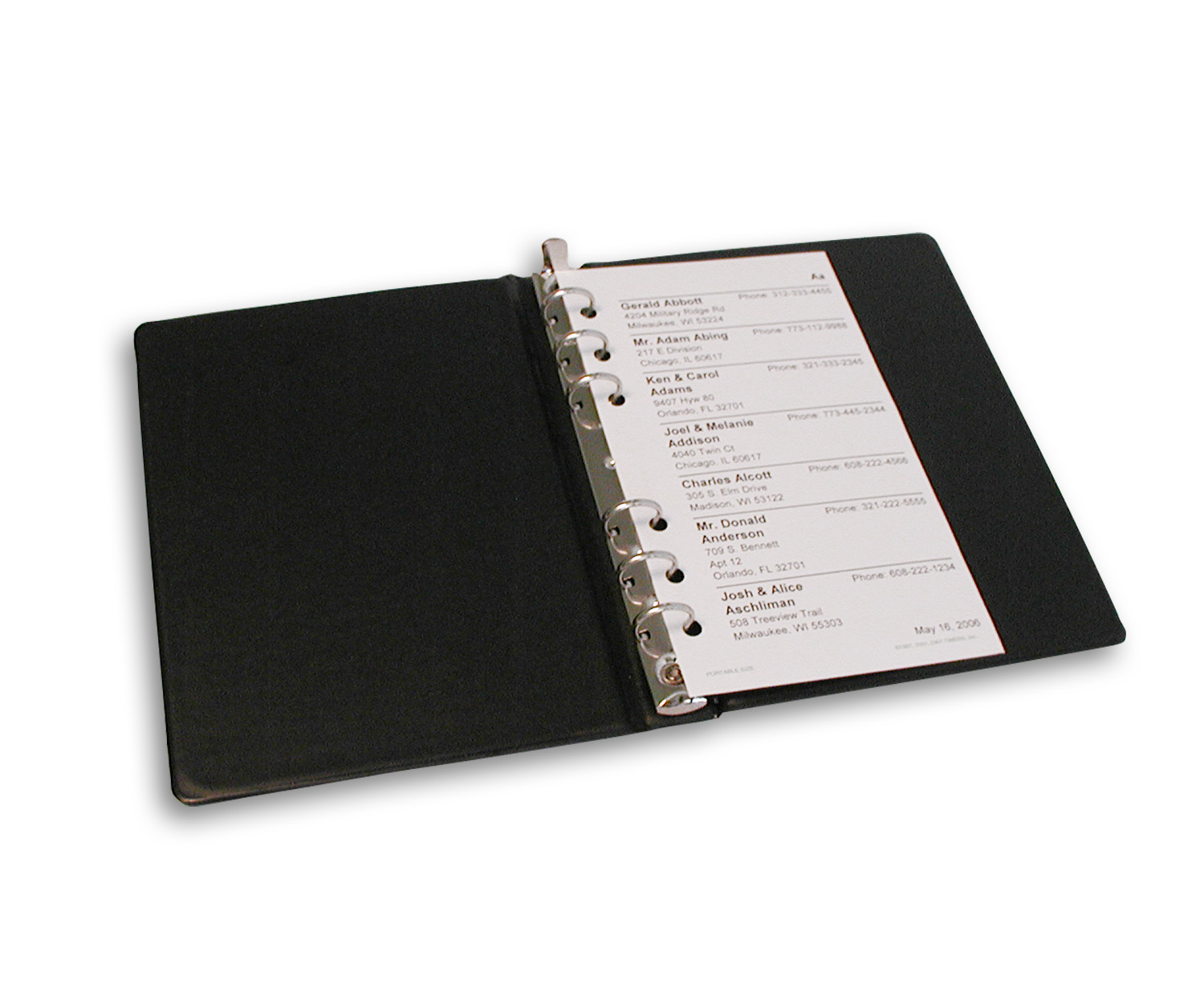 Open Leather Notebook With Rings